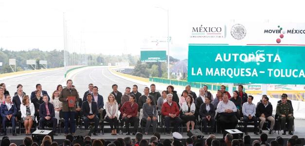 Inauguran la autopista La Marquesa-Toluca