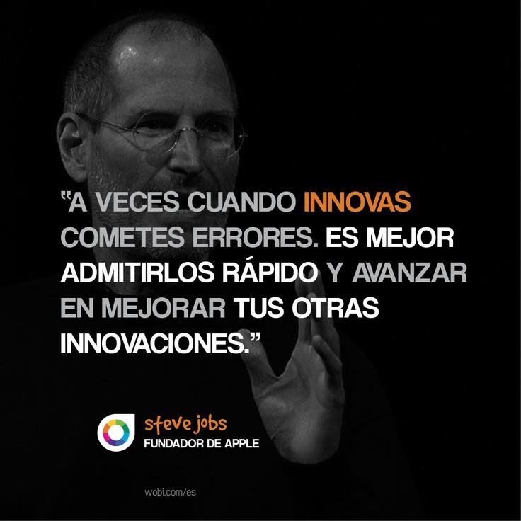 A veces cuando innovas cometes errores. Lo mejor es admitirlos y centrarse en perfeccionar otras ideas